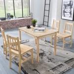 Tischgruppe BREMEN Kiefer massiv Natur 1 Tisch 108x65 und 4 Stühle