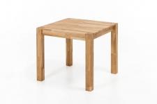 Esstisch Tisch DARVIN 80x80 Eiche massiv / Fuß 75x75 mm