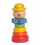 Holzspielzeug - Clown- gelber Hut