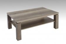 """Couchtisch Wohnzimmertisch """" Merlin"""" 104 x 67 cm mit Ablageboden Monument Oak"""