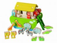 Holzspielzeug - Arche Noah zum Sortieren und Stecken
