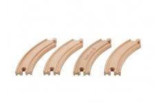 Holzspielzeug - Eisenbahn Schienen Set. Kurve