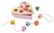 Holzspielzeug - Sortierspiel in Herzform