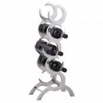 Weinregal Design 65 cm für 5 Flaschen Aluminium Silber