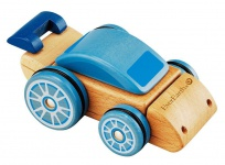 Holzspielzeug - Wandelbares Fahrzeug. mehrfarbig
