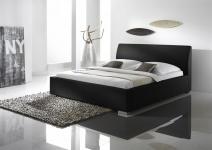 Polsterbett Bett Doppelbett Tagesbett - COSIMO 2 - 100x200 cm Schwarz