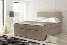 Boxspringbett Schlafzimmerbett CLAUDIA Kunstleder Beige 120x200cm