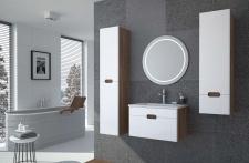 Badmöbel Set 4 tlg. Sangalo /Weiss Hochglanz -VIGO - ohne Waschtisch