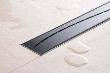 Duschrinne Dusch Badablauf Bodenablaufrinne NR.5 - 90 cm/ Schwarz