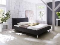 Polsterbett Bett Doppelbett Tagesbett - SANTOS - 100x200 cm Braun
