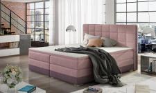 Boxspringbett Bett PRATO Webstoff Violett/ Rosa 100x200cm