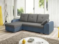 Ecksofa Sofa DEKOS mit Schlaffunktion Hellblau / Grau Ottomane Links