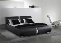 Polsterbett Bett Doppelbett Tagesbett DAKAR 160x200 cm Schwarz