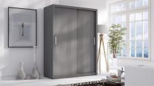Schiebetürenschrank Schrank LUND Grau matt 150x215 cm