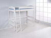 Hochbett Spielbett Bett - BENI - Komforthöhe 180 cm Kiefer Weiss