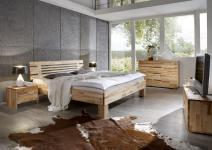 Massivholzbett Schlafzimmerbett - LANDO - Bett Kernbuche 100x200 cm