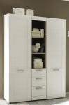 Kleiderschrank Schrank - SALY - in Pinie Struktur weiß 2 türig