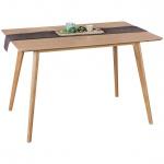 Esszimmertisch Tisch JASPER MDF Eiche Furnier 120x80 cm Landhausstil