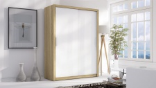 Schiebetürenschrank Schrank LUND Sonoma / Weiss 150x215 cm
