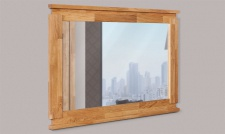 Spiegel Wandspiegel MAISON Buche massiv 115x80x3 cm