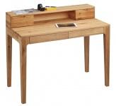 Schreibtisch Bürotisch Sekretär - Otto - 110x55 mm - Wildeiche massiv