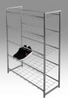 Schuhregal Regal 5-stufig DAISY Metall Vierkant 80 x 30 cm