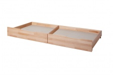 Schubkasten 2er Set für Einzel- und Etagenbetten LEVIN Buche Natur