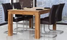 Esstisch Tisch ausziehbar MAISON Wildeiche massiv geölt 120/165x90 cm