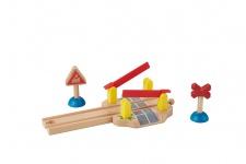 Holzspielzeug - Bahnübergang