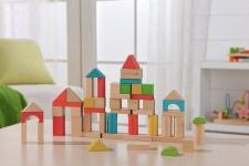 Holzspielzeug - 50 Bausteine
