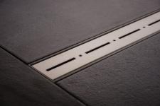 Duschrinne Dusch Badablauf Bodenablaufrinne NR.2 - 120 cm/ Edelstahl