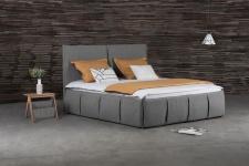 Polsterbett Doppelbett AGIS Stoff Grau 160x220cm