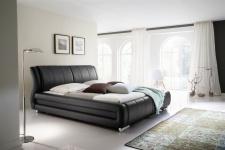 Polsterbett Bett Doppelbett Tagesbett - LIMA - 160x200 cm Schwarz