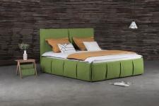 Polsterbett Doppelbett AGIS Stoff Grün 180x220cm