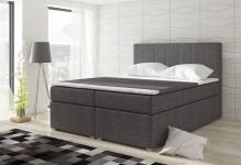 Boxspringbett Schlafzimmerbett LOREN Webstoff Grau 120x200cm