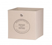 Faltbox Box - Home -32 x 32 cm / 3er Set - Beige