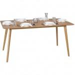 Esszimmertisch Tisch JASPER MDF Eiche Furnier 160x90 cm Landhausstil