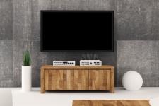 Lowboard TV-Schrank MAISON Wildeiche massiv geölt 115x43x45 cm