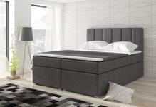 Boxspringbett Schlafzimmerbett SOPHIA Webstoff Grau 120x200cm