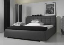 Polsterbett Bett Doppelbett Tagesbett - VERMONT - 160x200 cm Grau