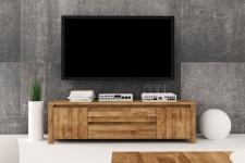 Lowboard TV-Schrank MAISON Wildeiche massiv geölt 150x43x45 cm