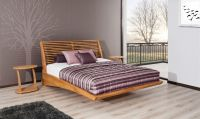 Massivholzbett Bett Schlafzimmerbett FRESNO Buche massiv 160x200 cm - Vorschau 5