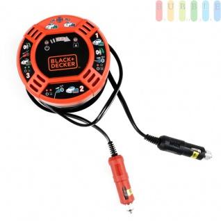 Simple Start Fahrzeug zu Fahrzeug-Zusatzbatterie von Black + Decker, Starthilfe mit 6 Meter Kabel über 12V-Zigarettenanzünderbuchsen, LED-Anzeige