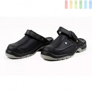 Clogs Sicherheits-Sandale von ALL Ride, Sicherheitsschuh mit Klettverschluss, schwarz/grau, Größe 43