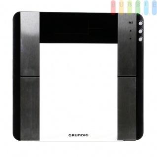 Gewichts- und Körperfettwaage von Grundig, Digitalanzeige, Glas / Kunststoff, Design modern, batteriebetrieben, Größeca.33 x33x2cm