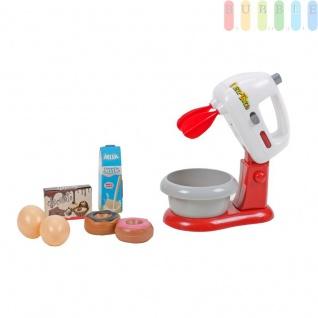 Kinder Spielzeug, Mixer-Spielset für die Kinderküche von EDDY TOYs, Rührmaschine mit Schüssel, Licht- und Ton-Funktion, 2 Arten Rührfunktion, Batteriebetrieb