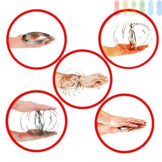 Flow Ring von ToiToys, Spiraleaus Edelstahl, kinetischesSpielzeug, entspannend oder interaktiv ?ca.13cm - Vorschau 3