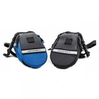Fahrrad Satteltasche von Dunlop, Klett-/Klick-Montage, reflektierende Streifen, wasserdicht, Größe ca. 20 x 10/5 x 8 cm, lieferbar in den Farben Schwarz oder Schwarz-Blau