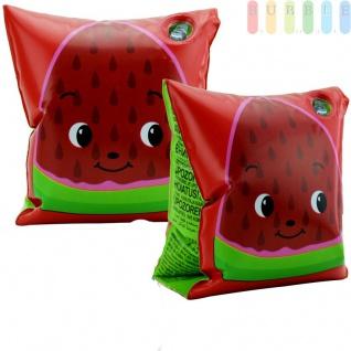 Schwimmflügel Fruitasctic für Kinder von Bestway, aufblasbar, 2 Kammern, 2 Sicherheitsventile, für Jungen und Mädchen, Rot