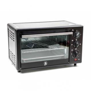 Elektrischer Ofen ALL Ride, Drehschalter für Temperatur, Funktion und Timer, Ober-/Unterhitze kombinierbar, Anschlusskabel mit Flachsicherung, 14 l Volumen, 24V/300W
